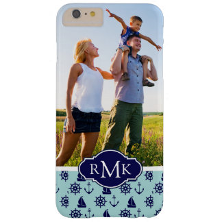 Seaside Pattern| Your Photo & Monogram Barely There iPhone 6 Plus Case