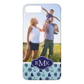 Seaside Pattern  Your Photo & Monogram iPhone 8 Plus/7 Plus Case