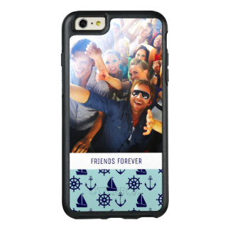 Seaside Pattern | Your Photo & Text OtterBox iPhone 6/6s Plus Case