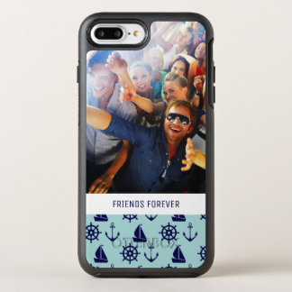 Seaside Pattern | Your Photo & Text OtterBox Symmetry iPhone 8 Plus/7 Plus Case