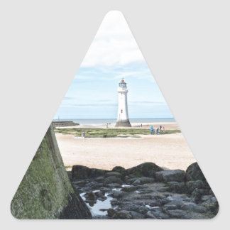 Seaside Scene.jpg Triangle Sticker