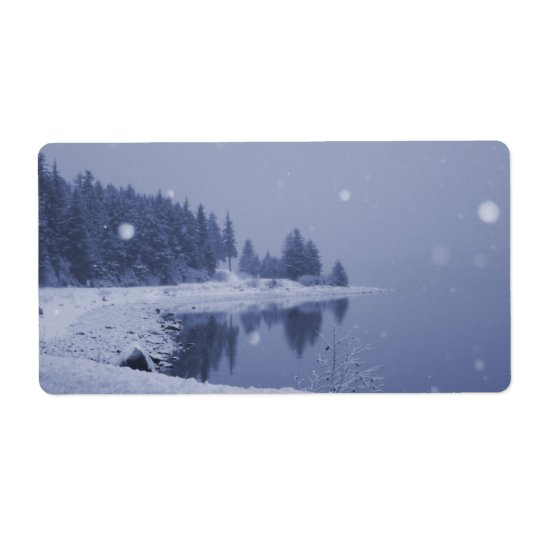 Seaside Snowfall Shipping Label