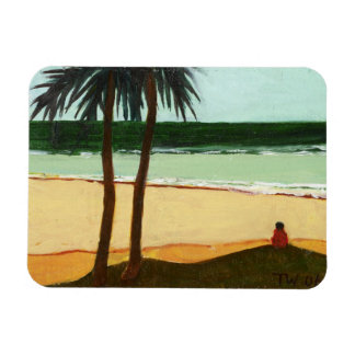 Seaside Solitude 2006 Rectangular Photo Magnet