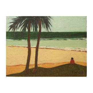 Seaside Solitude 2006 Wood Print
