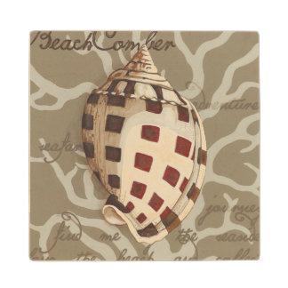 Seaside Sonnet I Wood Coaster
