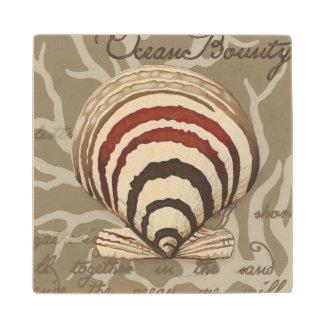 Seaside Sonnet II Wood Coaster