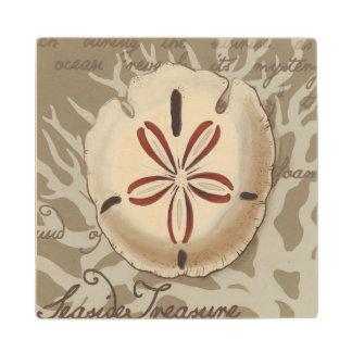 Seaside Sonnet III Wood Coaster