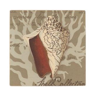 Seaside Sonnet IV Wood Coaster