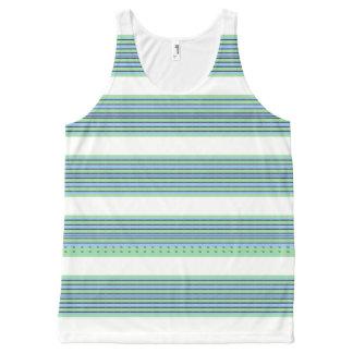 Seaside-Stripe's-Nautical-White(c)-Tank-Top All-Over Print Tank Top