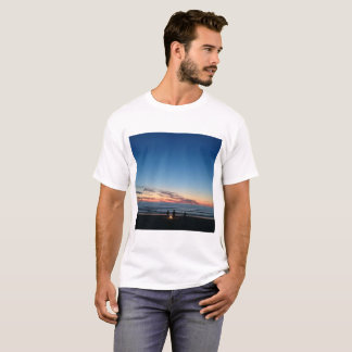 Seaside sunset. Night fishing T-Shirt