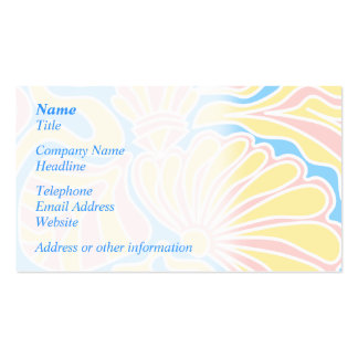 Seaside Themed Design in Pastel Colors. Business Cards