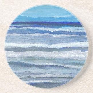Seaside View Ocean Art Coaster
