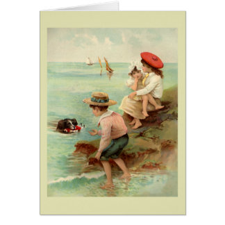 Seaside Vintage Illustration Greeting Card