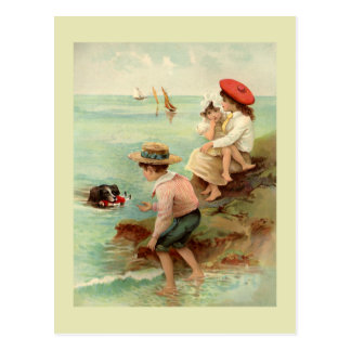 Seaside Vintage Illustration Postcard