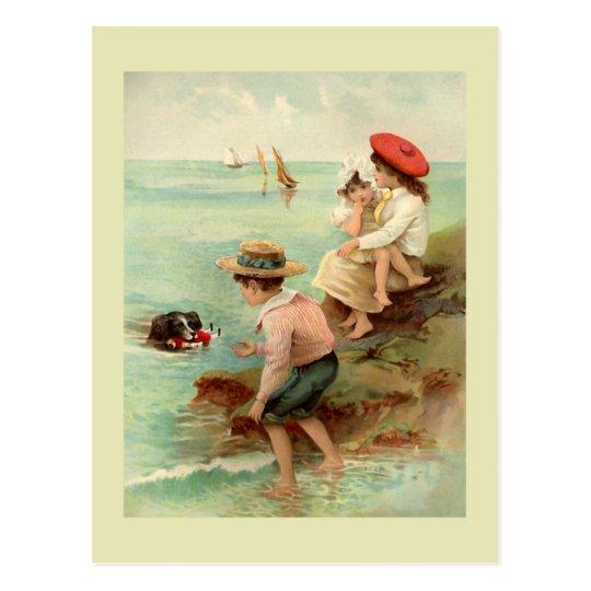 Seaside Vintage Illustration Postcard