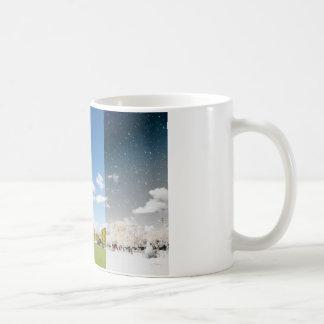Season change in Paris Basic White Mug