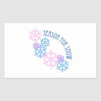 Season For Snow Rectangle Stickers