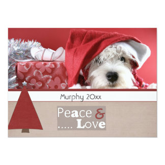 "season greeting christmas pet photo cards 5.5"" x 7.5"" invitation card"