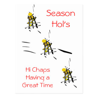 Season Hol's Ski Slope Postcard