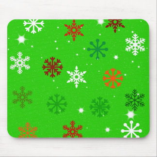 Season of Greetings Snowflakes Mousemat