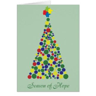 Season of Hope - Autism Awareness Greeting Cards