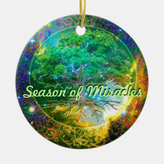 Season of Miracles - Tree of Life Wellness Round Ceramic Decoration