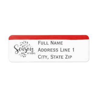 Season of Thanks Return Address Label