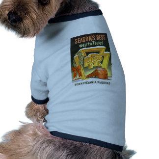 Season s Best Way To Travel Pennsylvania Railroad Dog Tshirt