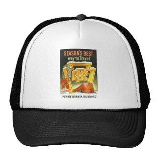 Season s Best Way To Travel Pennsylvania Railroad Mesh Hat