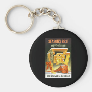 Season s Best Way To Travel Pennsylvania Railroad Key Chains