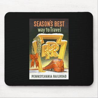 Season s Best Way To Travel Pennsylvania Railroad Mousepad