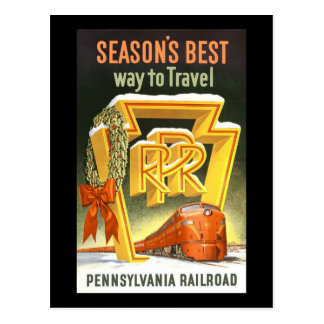 Season s Best Way To Travel Pennsylvania Railroad Post Cards