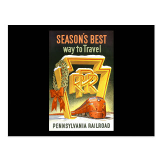 Season s Best Way To Travel Pennsylvania Railroad Post Card