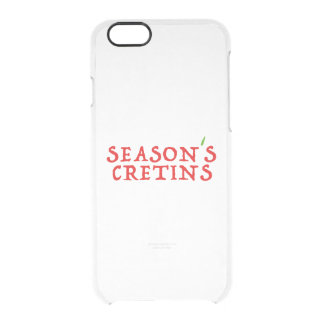 season`s cretins clear iPhone 6/6S case