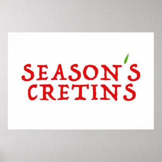 season`s cretins poster