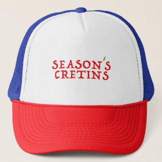 season`s cretins trucker hat