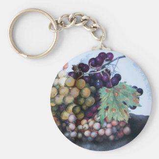 SEASON S FRUITS 1 - GRAPES AND PEARS KEYCHAIN