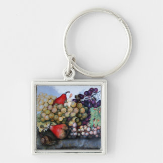 SEASON S FRUITS 1 - GRAPES AND PEARS KEYCHAINS
