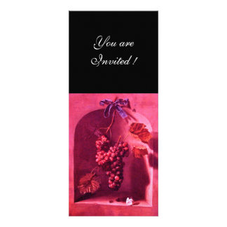 SEASON S FRUITS - PROSPERITY pink red black Custom Invites