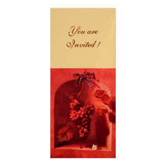 SEASON S FRUITS - PROSPERITY pink red gold Personalized Announcements