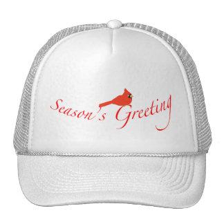 Season s Greeting Cardinal Cap Hats