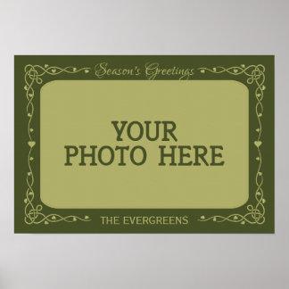 Season's Greetings Custom Photo & Name poster