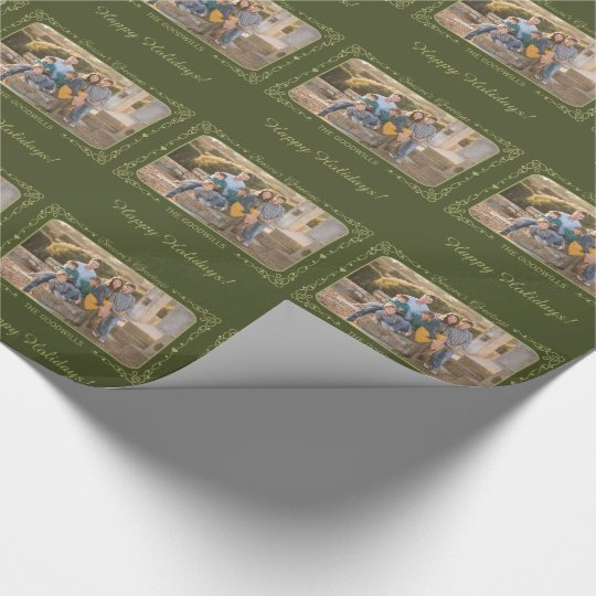 Season's Greetings Custom Photo wrapping paper