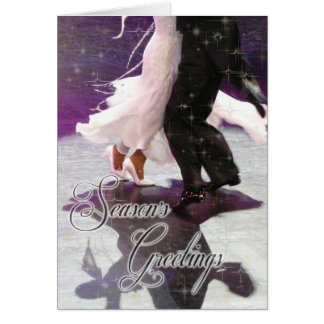Season s Greetings Dancers PERSONALIZED Greeting Card