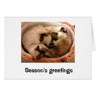 Season s greetings from Hiro Neo trinity Greeting Cards