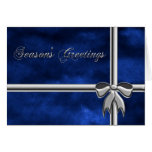 Season's Greetings gift, blue & silver wrapping