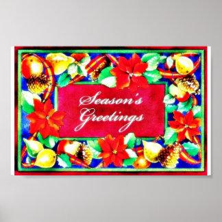 Season s greetings holy leaves around posters