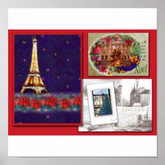 season s greetings illustrated PARIS POSTER