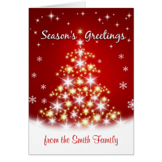 Season s Greetings - Personalized Christmas Cards