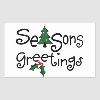 Season s Greetings Rectangle Stickers